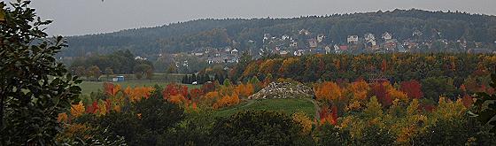Blick vom Kienberg auf den Forstpark Tharandt und Kurort Hartha