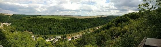 Blick vom Heinrichseck oberhalb der Wilden Weißeritz nahe Tharandt